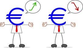 Karikatur-Geld-Kopf-Geschäftsmann Stockbilder