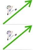Karikatur-Geld-Kopf-Geschäftsmann Running Lizenzfreies Stockbild