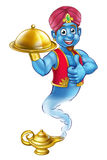 Karikatur Genie Serving Food stock abbildung