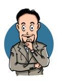 Karikatur-Geschäftsmann lizenzfreies stockfoto