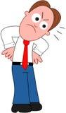 Karikatur-Geschäftsmann Angry. Lizenzfreies Stockfoto