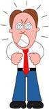 Karikatur-Geschäftsmann Furious. Lizenzfreie Stockfotografie