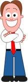 Karikatur-Geschäftsmann Happy Lizenzfreies Stockbild
