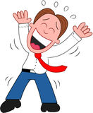 Karikatur-Geschäftsmann Laughing. Stockfotografie