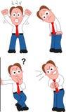Karikatur-Geschäftsmann Set Lizenzfreie Stockfotografie