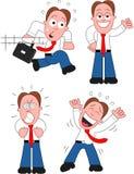 Karikatur-Geschäftsmann Set Lizenzfreies Stockbild