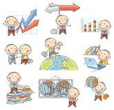 Karikatur-Geschäftsmann Set Lizenzfreies Stockfoto