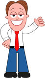Karikatur-Geschäftsmann Showing. Stockfotos