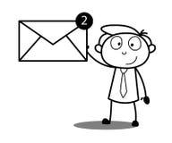 Karikatur-Geschäftsmann Showing Message Lizenzfreie Stockbilder