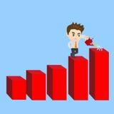 Karikatur-Geschäftsmann zeigt Verkaufswachstum stock abbildung