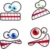 Karikatur-Gesichter Stockbild