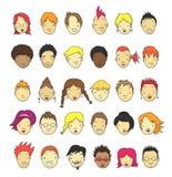 Karikatur-Gesichter Stockfoto