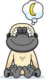 Karikatur-Gibbon-Träumen Lizenzfreies Stockbild
