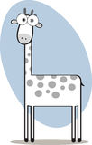 Karikatur-Giraffe in Schwarzweiss Lizenzfreie Stockfotos