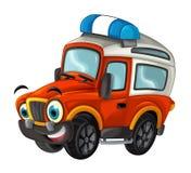 Karikatur glücklich und lustig weg vom Straßenlöschfahrzeug/von lächelndem Fahrzeug vektor abbildung