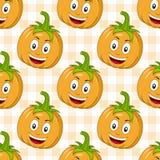 Karikatur-glücklicher Kürbis-nahtloses Muster Stockbilder