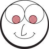 Karikatur glücklicher Smiley Emoticon Face Lizenzfreie Stockfotos