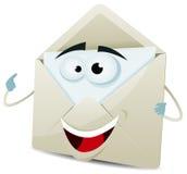 Karikatur-glückliches E-Mail-Zeichen vektor abbildung