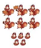 Karikatur-glückliches Eichhörnchen-Maskottchen stockfotografie