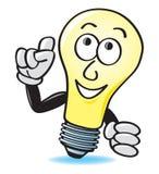 Karikatur-Glühlampe Lizenzfreie Stockfotos