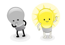 Karikatur-Glühlampe Lizenzfreies Stockfoto