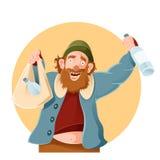 Karikatur-glücklicher Gammler Lizenzfreies Stockbild