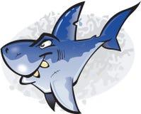 Karikatur-großer weißer Haifisch Lizenzfreie Stockfotografie