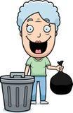 Karikatur-Großmutter-Abfall Stockfotos