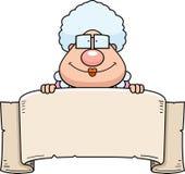 Karikatur-Großmutter-Fahne Lizenzfreie Stockfotos