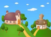 Karikatur-Häuser Lizenzfreies Stockbild