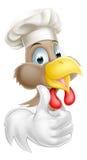 Karikatur-Hühnerkoch Stockfoto