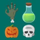 Karikatur-Halloween-Satz Stockbild