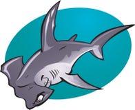 Karikatur-Hammerkopf Haifisch Stockfotos