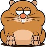 Karikatur-Hamster ermüdet Stockfotos