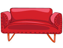 Karikatur-Hauptmöbel-Sofa Stockfoto