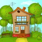 Karikatur-Haus Lizenzfreies Stockfoto