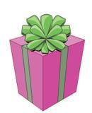 Karikatur. Heller Geschenkkasten mit Bogen für Feier Lizenzfreie Stockfotografie