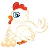 Karikatur-Henne mit Eiern Lizenzfreies Stockbild