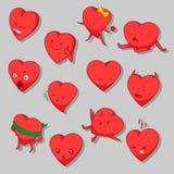 Karikatur-Herz-Vektor-Clipart lizenzfreie abbildung