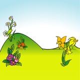 Karikatur-Hintergrund 05 Stockfotografie