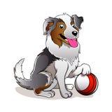 Karikatur-Hund mit Ball Stockfotos