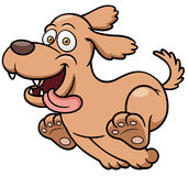 Karikatur-Hundebetrieb Stockfotografie