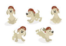 Karikatur-Hundemaskottchen-Set Lizenzfreie Stockfotos
