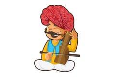 Karikatur-Illustration von Rajasthani-Mann stockbilder