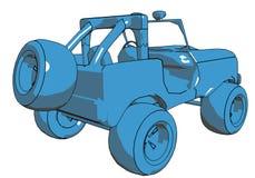 Karikatur-Jeep Stockfotos
