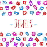 Karikatur jewels Vektorhintergrund Stockbild