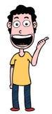 Karikatur-Junge, der gute Hand zeigt Lizenzfreie Stockbilder