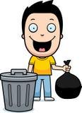 Karikatur-Jungen-Abfall stock abbildung