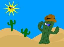 Karikatur-Kaktus Stockfotografie