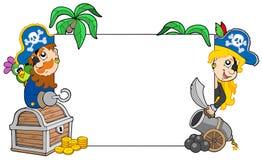 Karikatur kapert unbelegten Vorstand der Holding Lizenzfreies Stockfoto